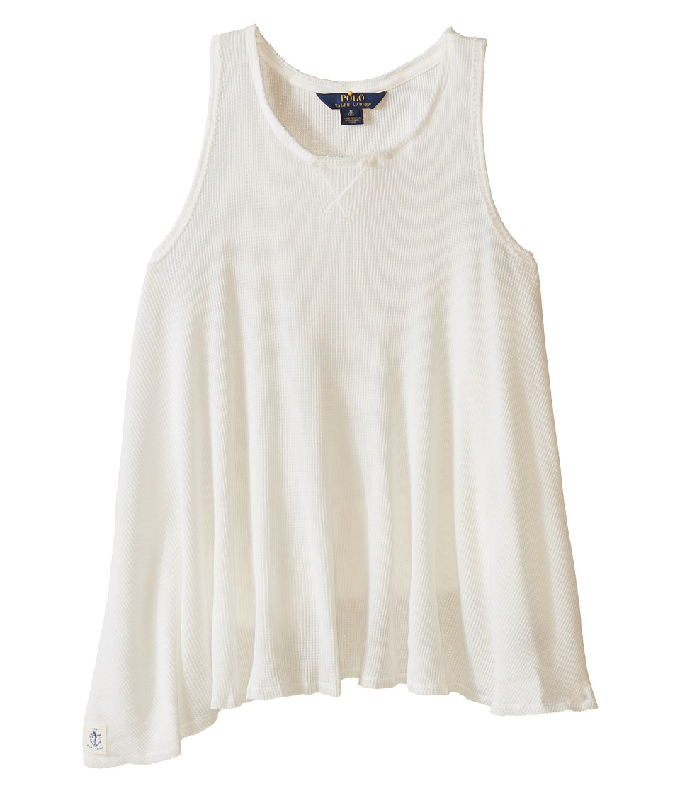 Polo Ralph Lauren Kids - Waffle Tank Top (Little Kids/Big Kids) (Baxter Cream) Girl's Sleeveless
