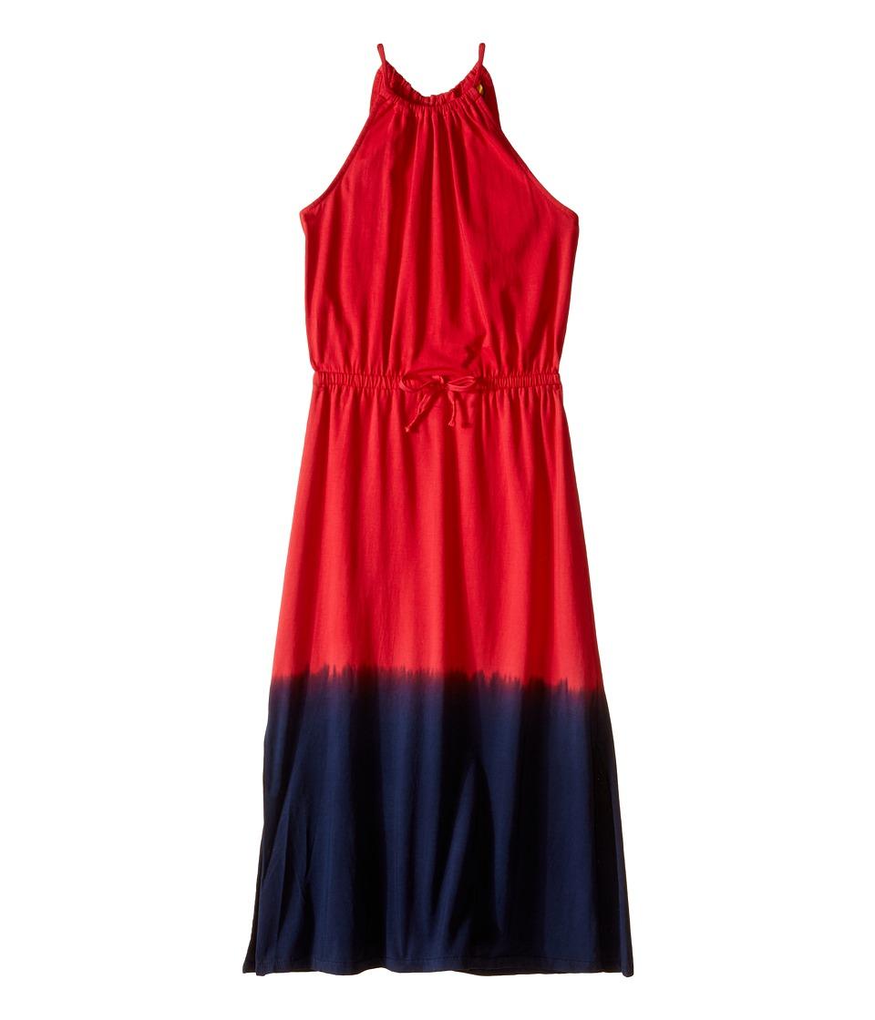 Polo Ralph Lauren Kids - Jersey Dip-Dye Maxi Dress (Little Kids/Big Kids) (Red/Blue Multi) Girl's Dress