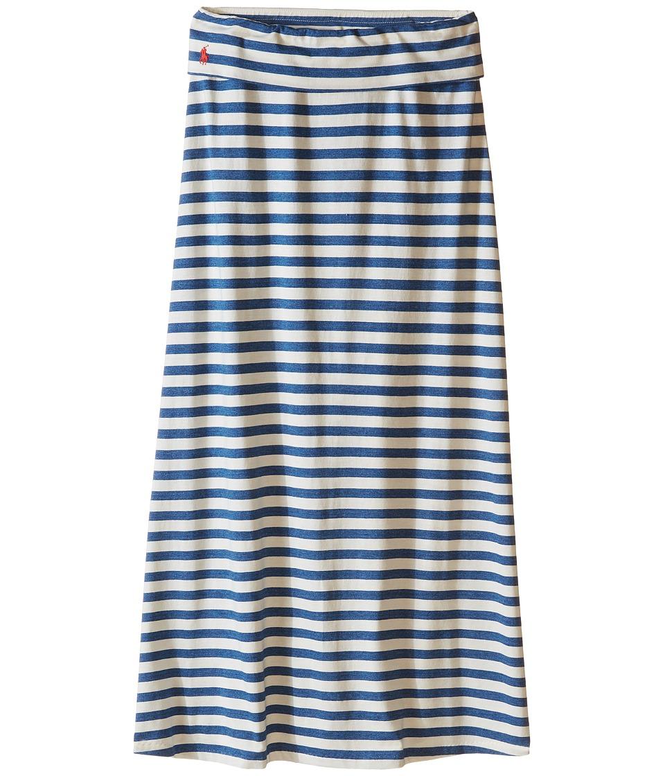 Polo Ralph Lauren Kids - Modal Stripe Skirt (Little Kids/Big Kids) (Chic Cream/Blue Heather) Girl's Skirt