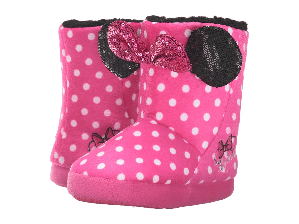 Favorite Characters - Disney Minnie Mouse Boot MNF211 (Toddler) (Pink/Polka Dot) Girls Shoes