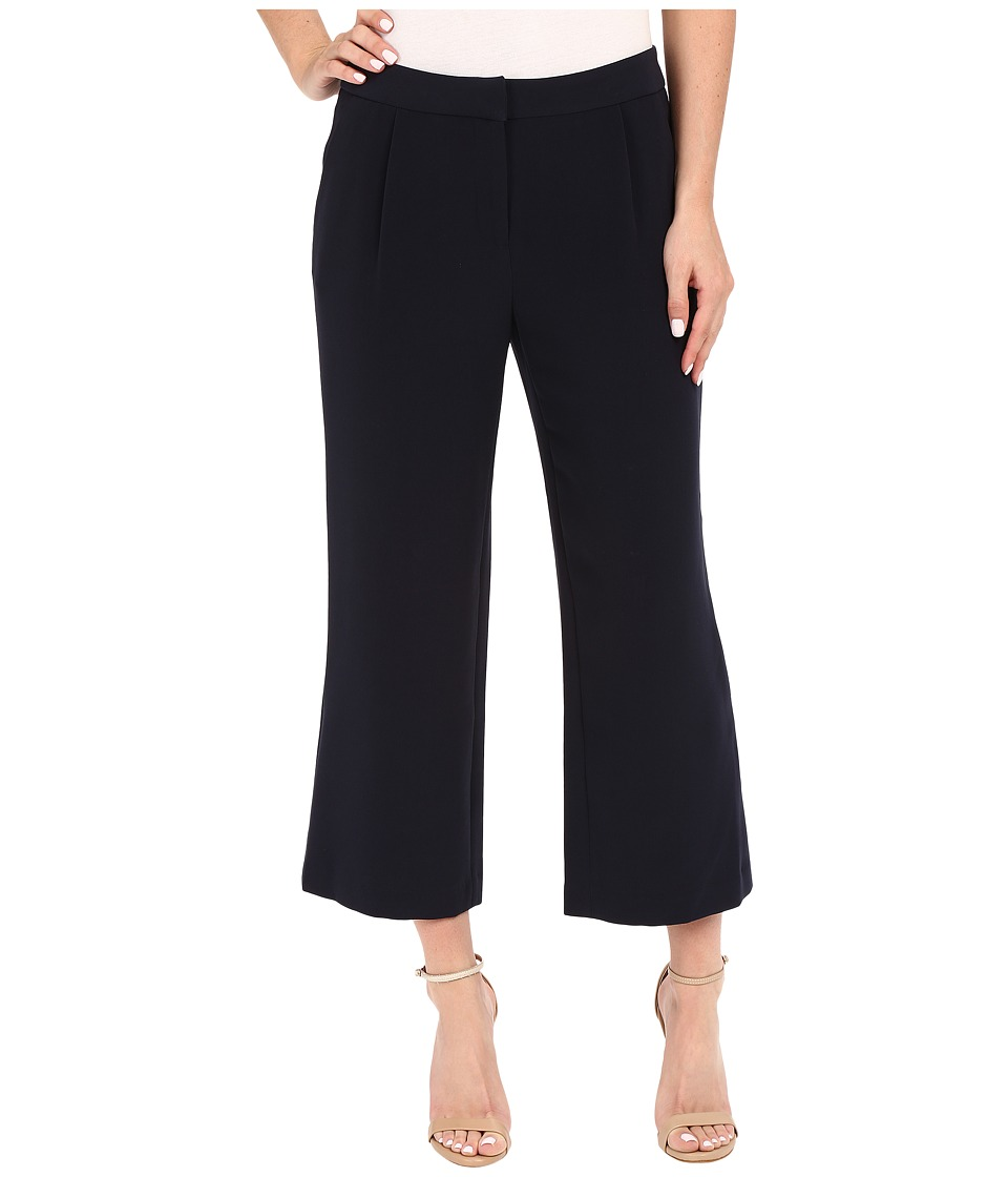 Ellen Tracy - Wide Cropped Pants (Navy) Women's Casual Pants