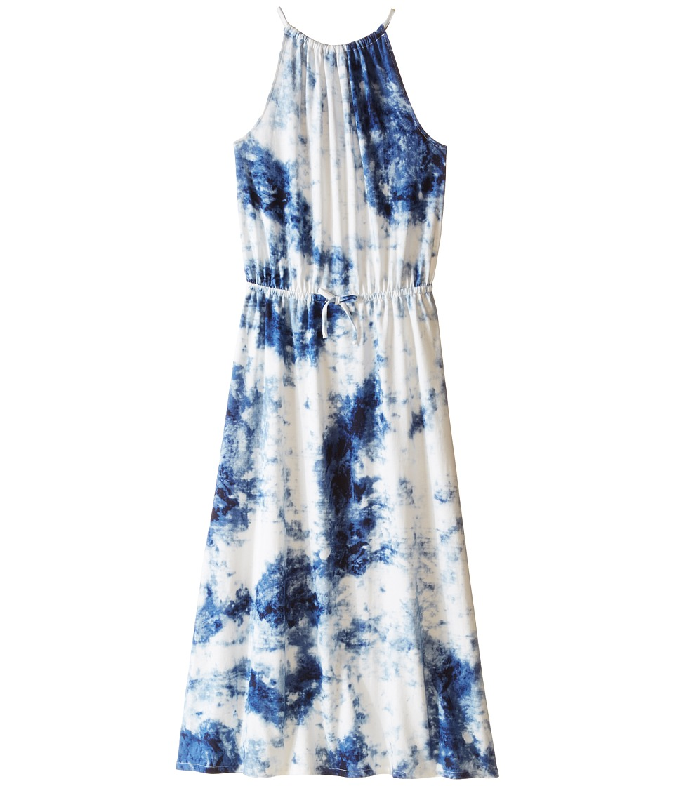 Polo Ralph Lauren Kids - Tie-Dye Dress (Big Kids) (Blue/White Multi) Girl's Dress