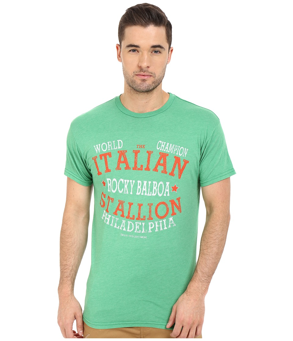 The Original Retro Brand - Italian Stallion Short Sleeve Heather Tee (Heather Sprite) Men's T Shirt