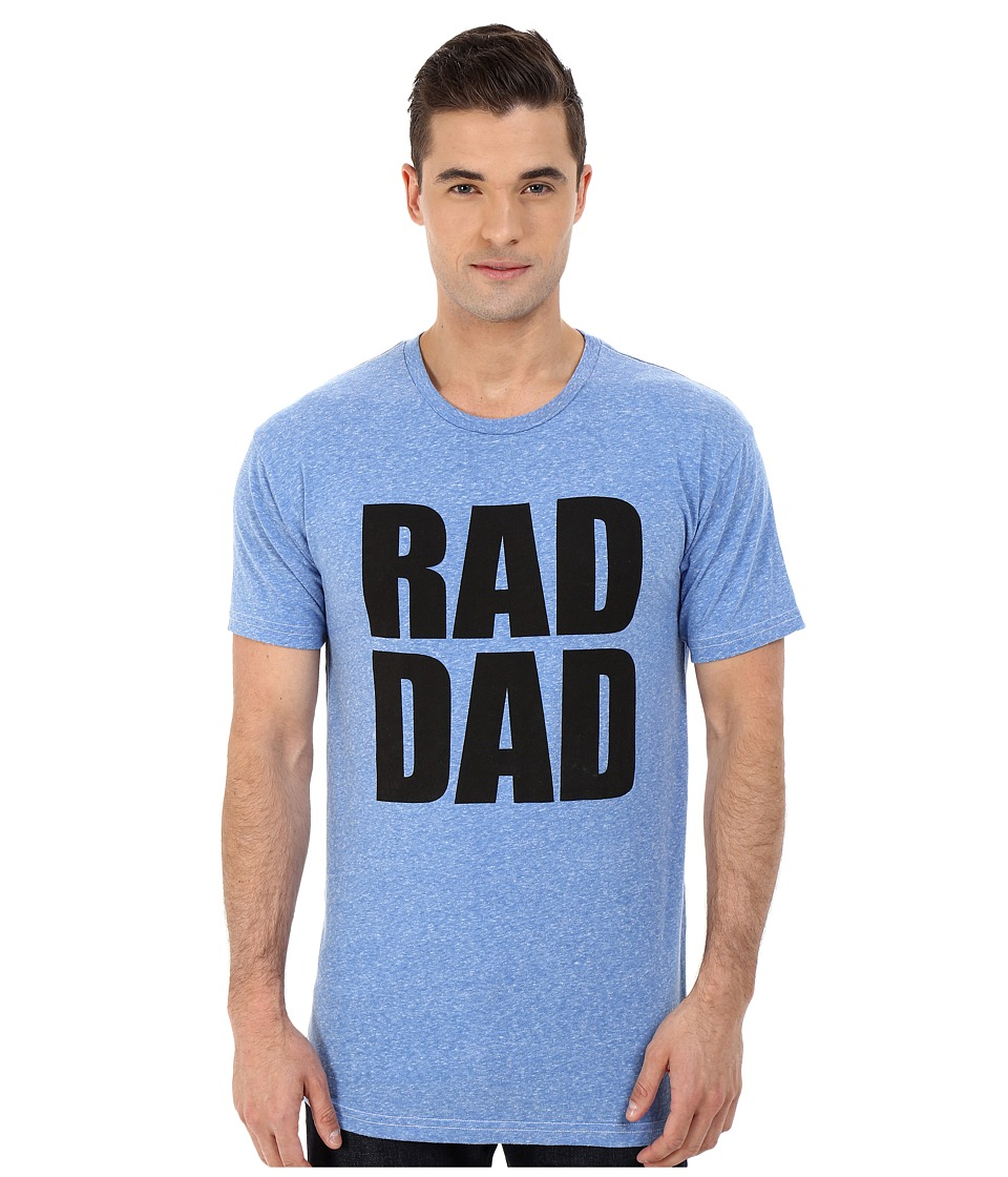 The Original Retro Brand - Rad Dad Tri-Blend Short Sleeve Tee (Streaky Blue) Men's T Shirt