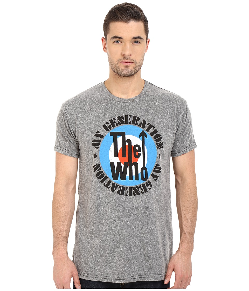 The Original Retro Brand - The Who Short Sleeve Tri-Blend Tee (Streaky Grey) Men's T Shirt