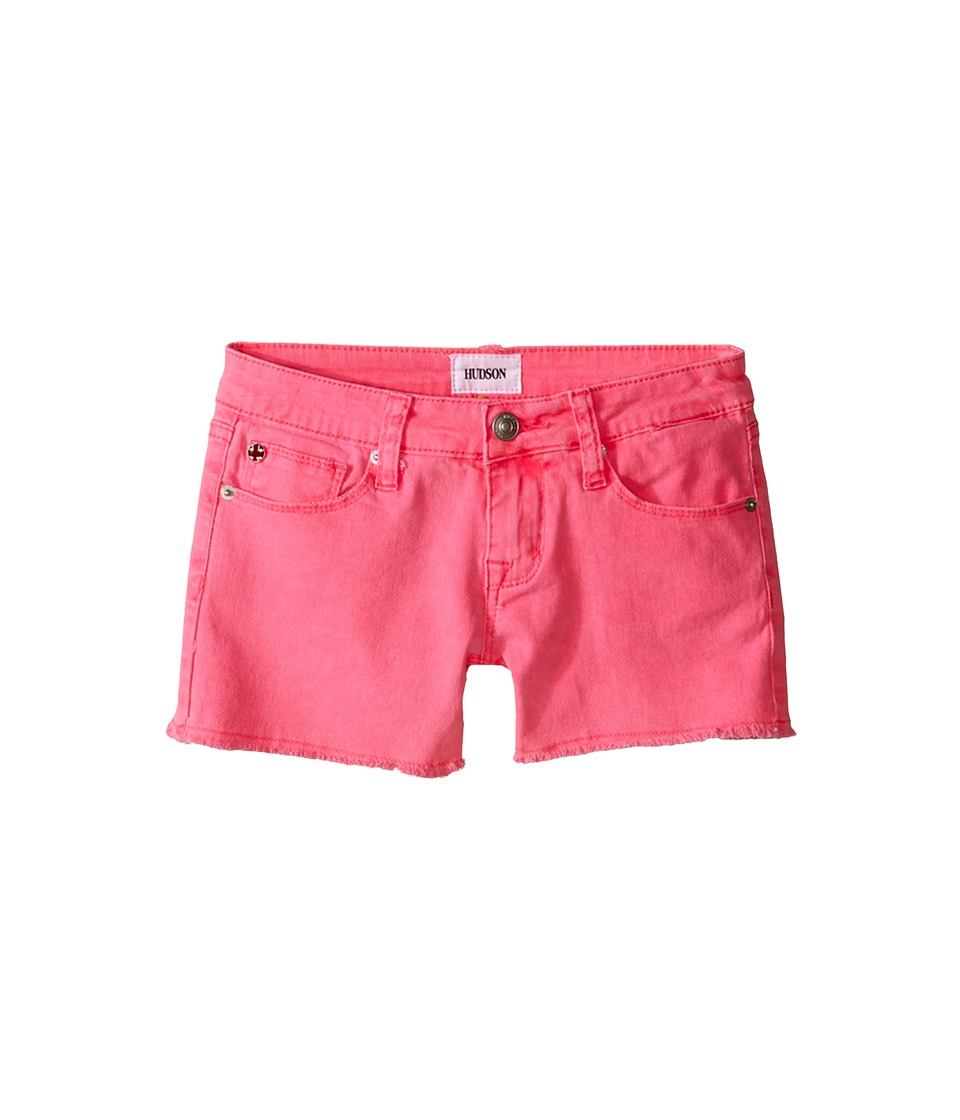 Hudson Kids - 3 Fray Colored Ava Shorts in Pop Pink (Big Kids) (Pop Pink) Girl's Shorts
