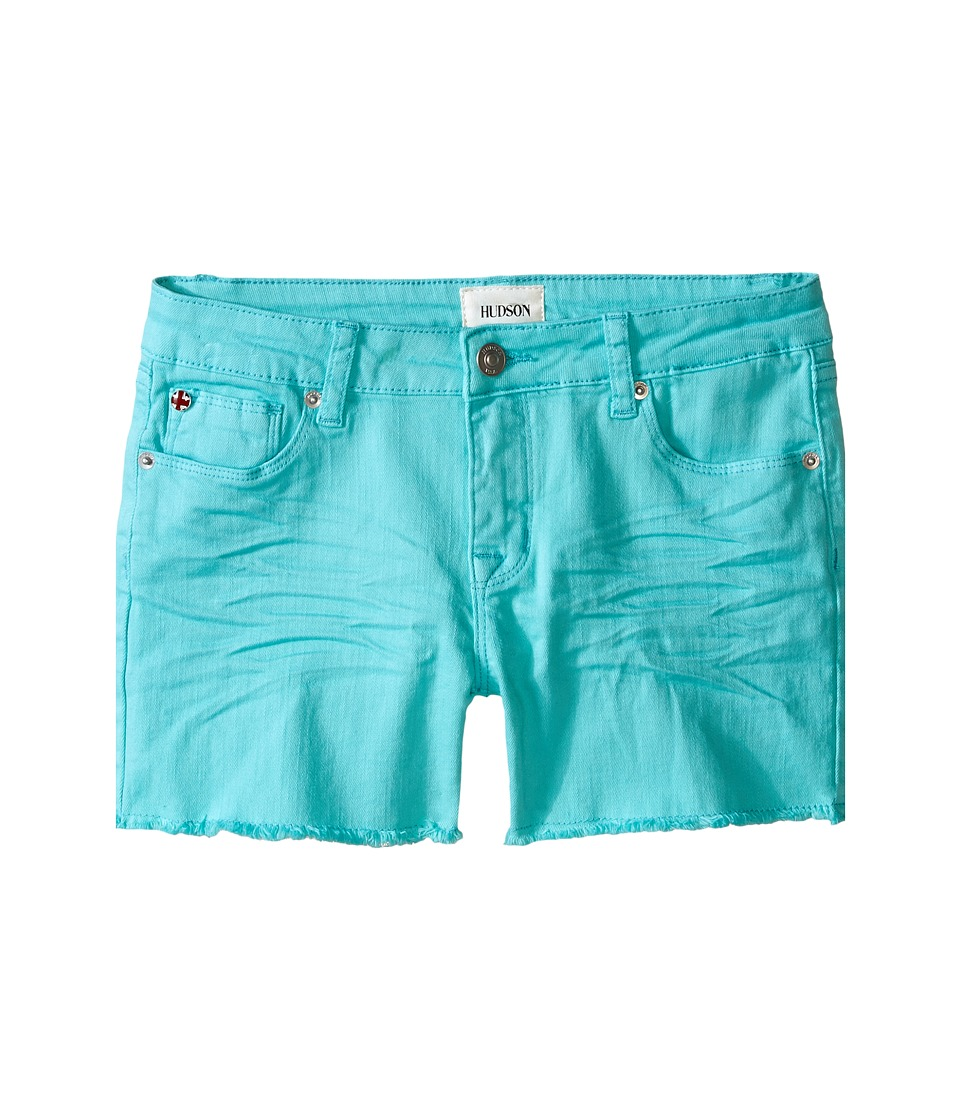 Hudson Kids - 3 Fray Colored Ava Shorts in Dew Melon (Big Kids) (Dew Melon) Girl's Shorts