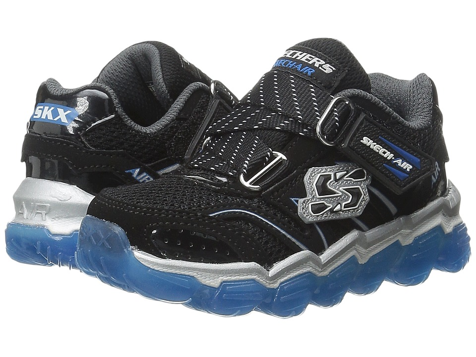 SKECHERS KIDS - Skech Air (Toddler) (Black/Royal) Boys Shoes