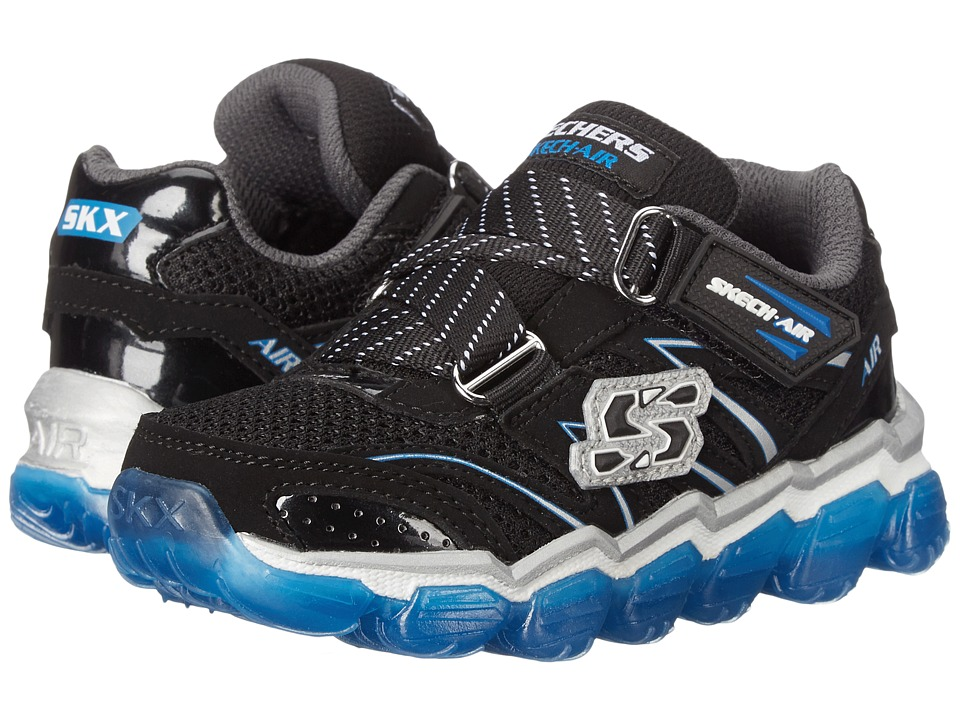 SKECHERS KIDS - Skech Air (Toddler) (Navy/Lime) Boys Shoes