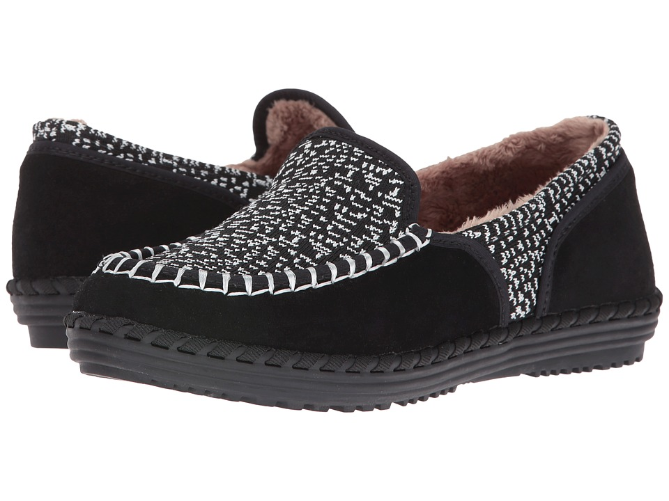 bernie mev. Stitched Fuzzy (Black/White Knit) Women
