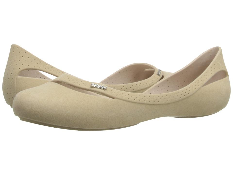ZAXY - Flow Flock (Beige) Women's Slip on Shoes