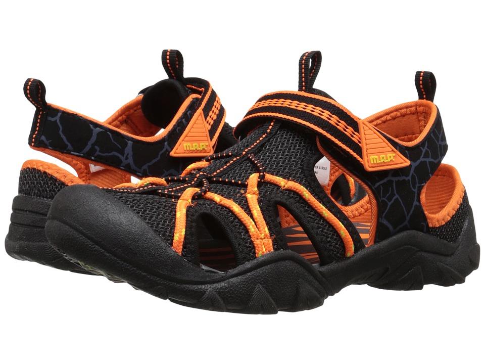 M.A.P. - Emmons (Little Kid/Big Kid) (Black/Orange) Boy's Shoes