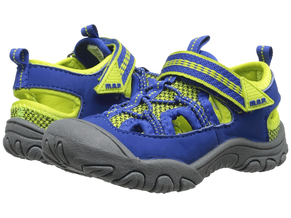 M.A.P. - Emmons (Toddler) (Blue/Neon) Boy's Shoes