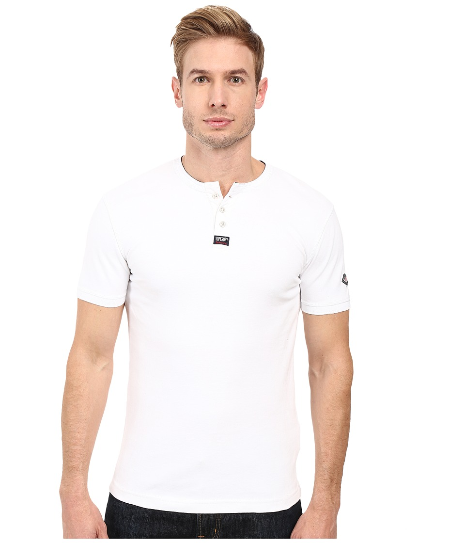 Superdry - Heritage Short Sleeve Grandad Shirt (Optic White) Men's Short Sleeve Button Up