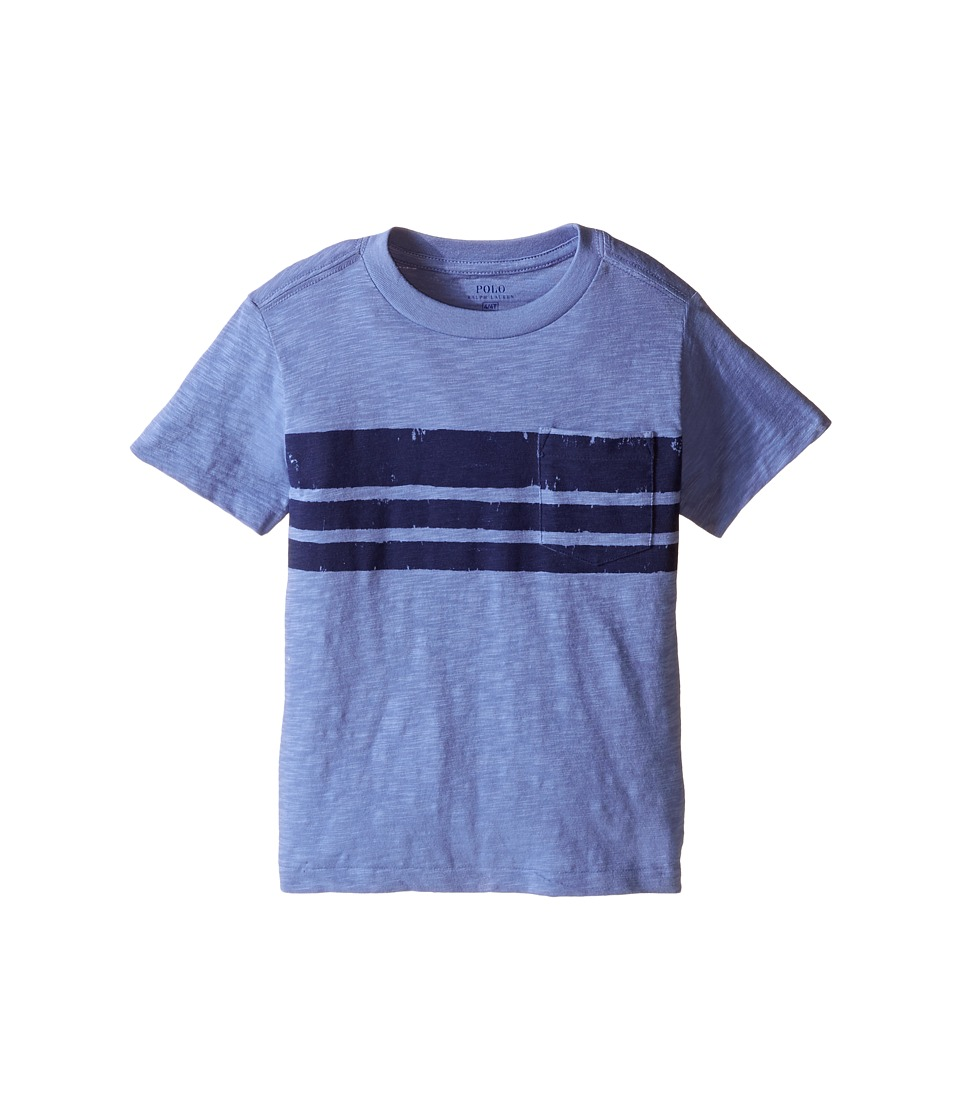 Polo Ralph Lauren Kids - Slub Jersey Stripe Tee (Toddler) (Blue Water) Boy's T Shirt