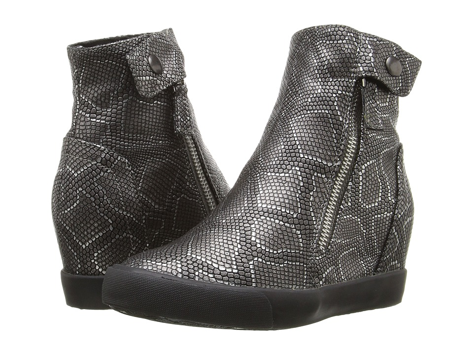 Amiana - 15-A5371 (Little Kid/Big Kid/Adult) (Pewter Metallic Python) Girl's Shoes