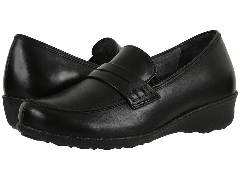 Drew - Berlin (Black Smooth Leather) Women's Slip on Shoes