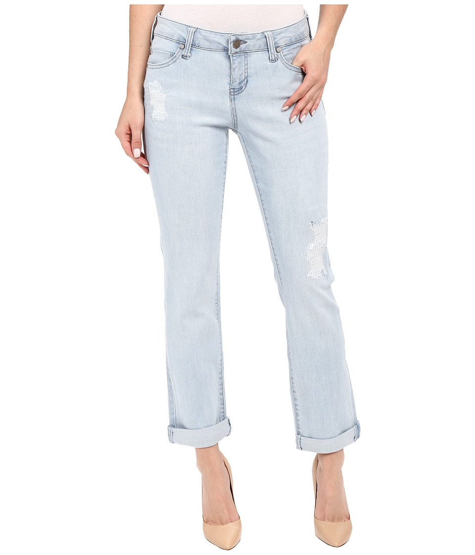 Liverpool - Peyton Slim Boyfriend Jeans w/ Destruction in Super Bleach Out (Super Bleach Out) Women's Jeans