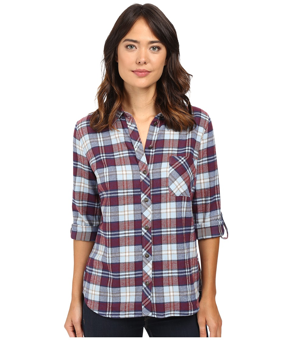 KUT from the Kloth - Kayla (Blue/Red) Women's Long Sleeve Button Up