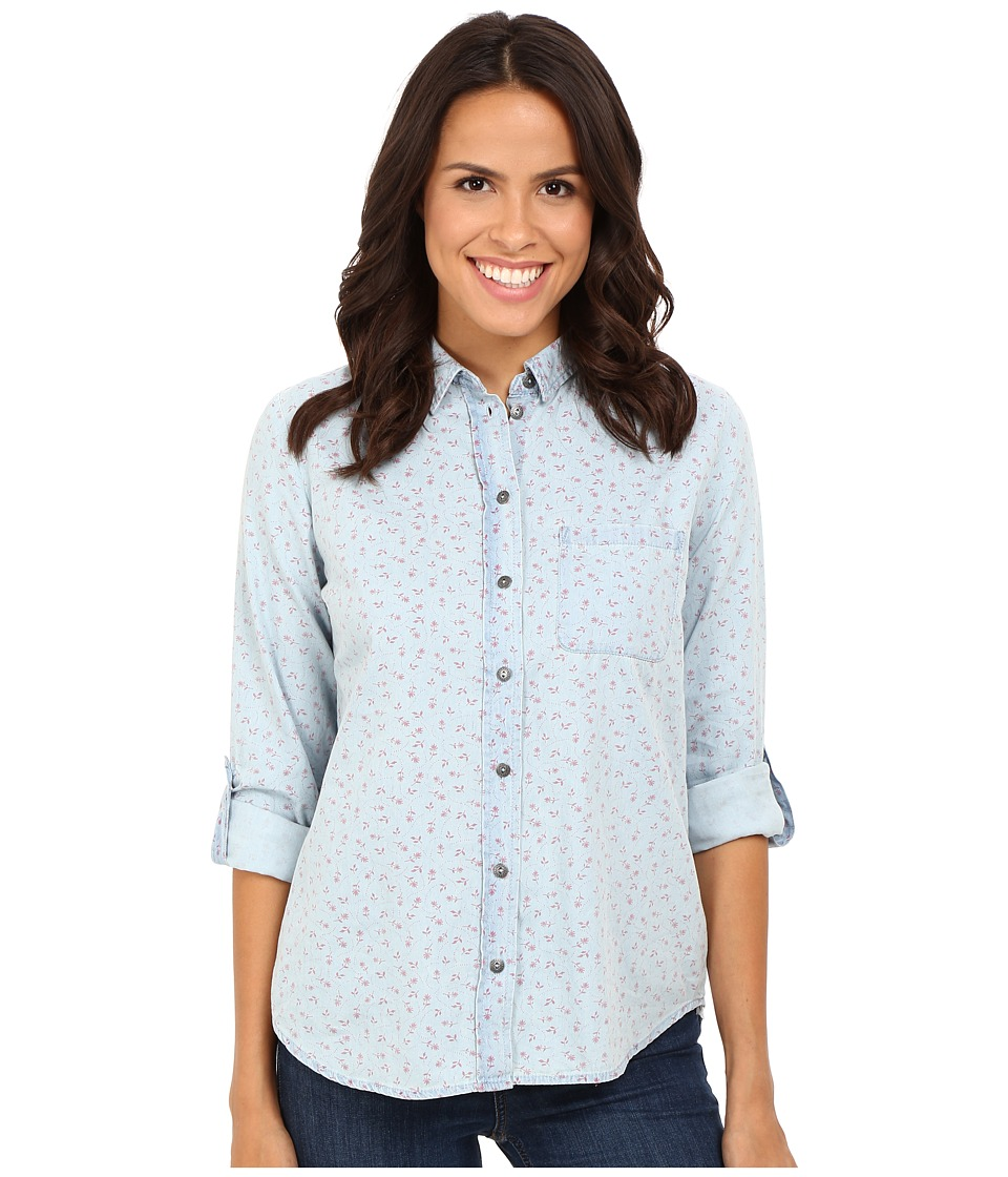 KUT from the Kloth - Kayla (Red/Light Blue) Women's Long Sleeve Button Up