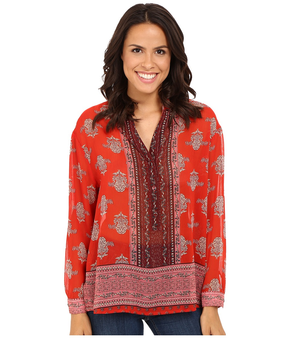 KUT from the Kloth - Sophia (Rosewood) Women's Long Sleeve Button Up