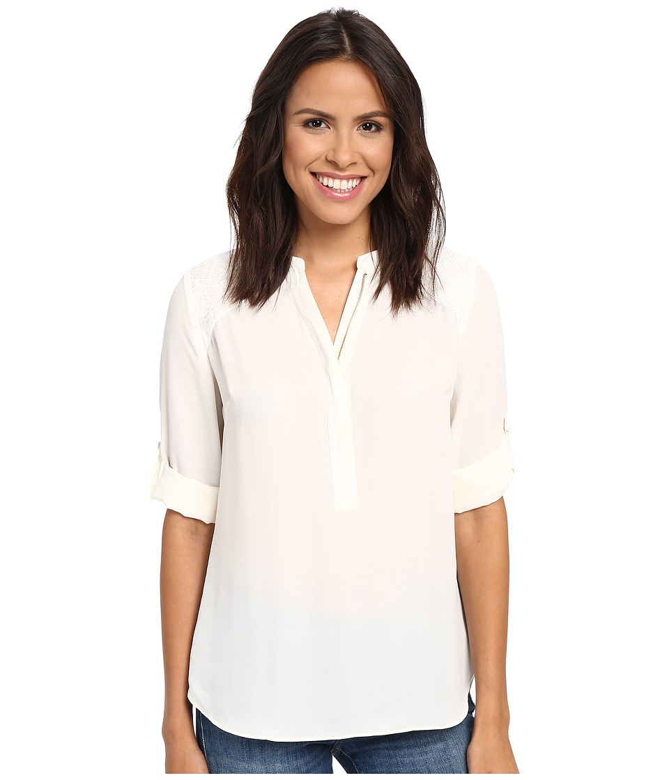 KUT from the Kloth - Gael (Ivory) Women's Long Sleeve Button Up