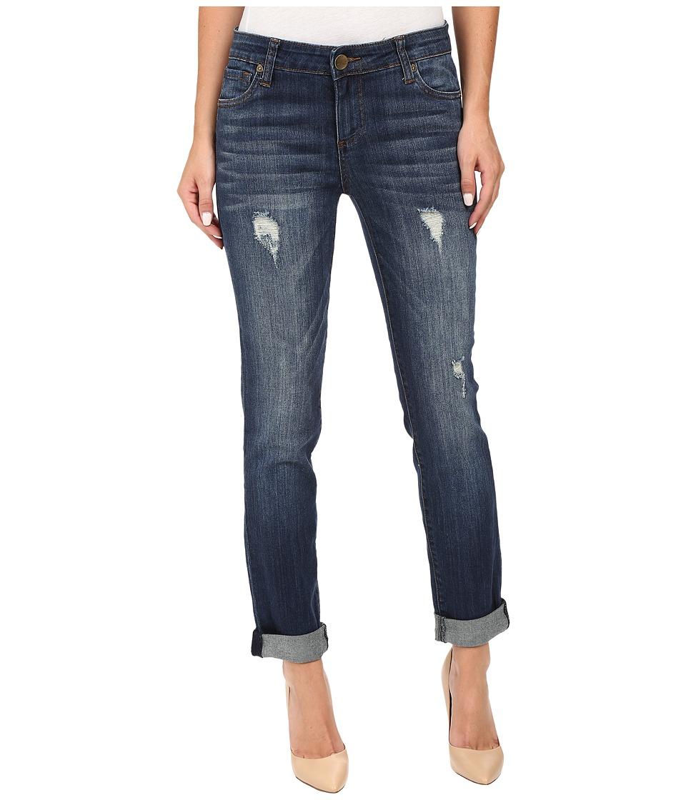KUT from the Kloth - Catherine Boyfriend Jeans in Allowing w/ Dark Stone Base Wash (Allowing/Dark Stone Base Wash) Women's Jeans