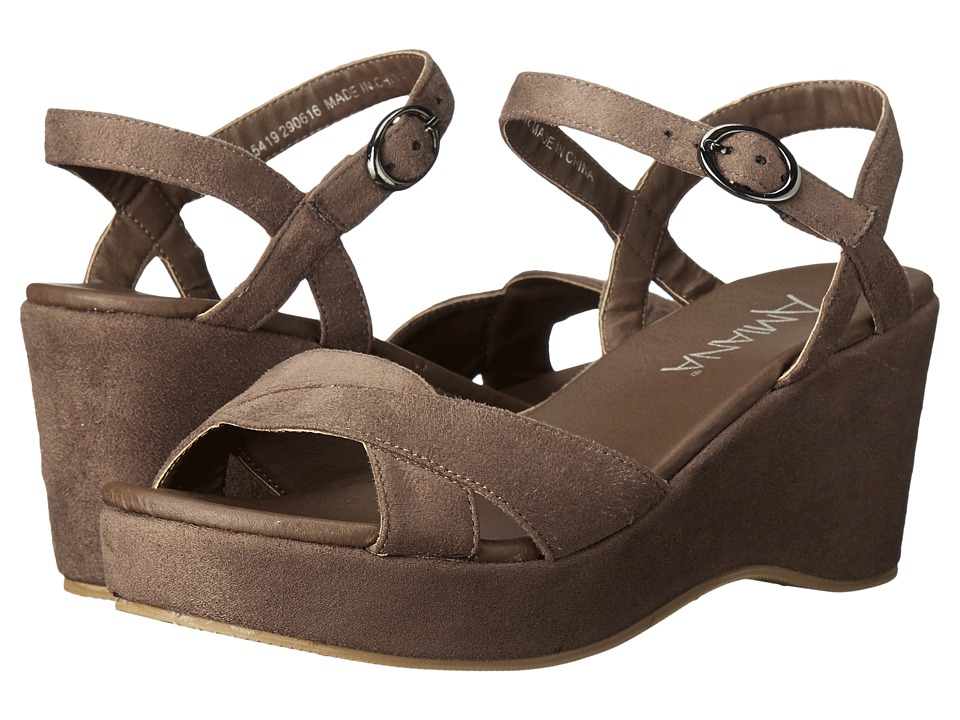 Amiana 15-A5419 (Little Kid/Big Kid/Adult) (Taupe Suede Fabric) Girl