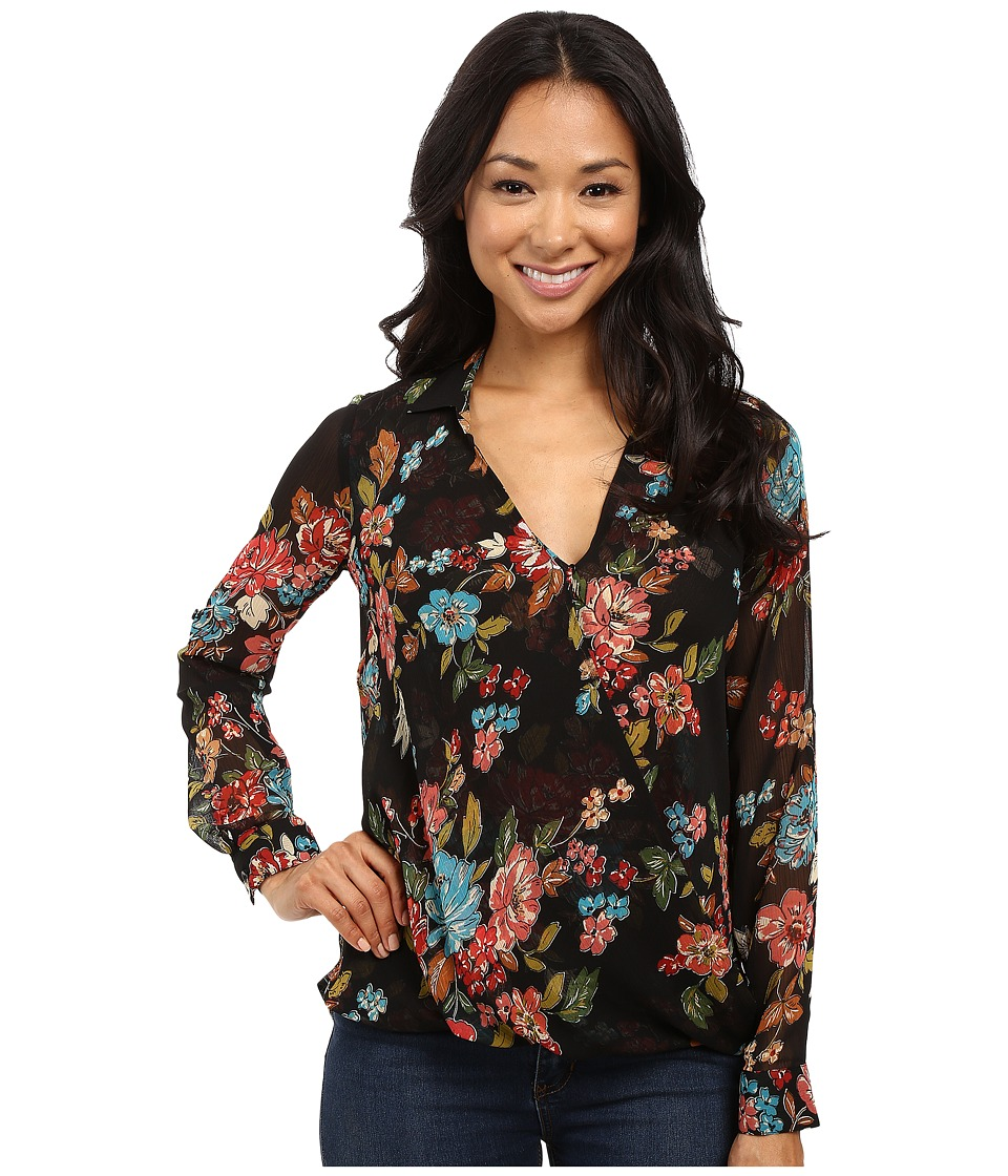 KUT from the Kloth - Isabel (Black) Women's Long Sleeve Button Up