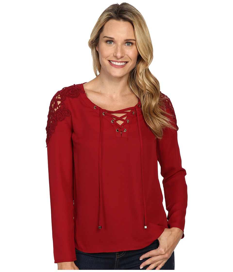 KUT from the Kloth - Alyssa (Bordeaux) Women's Blouse