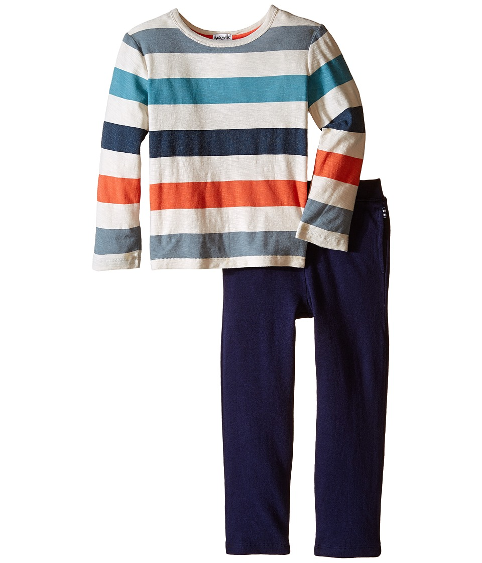 Splendid Littles - Rerverse Print Top with Pants Set (Toddler) (Stripe) Boy's Active Sets