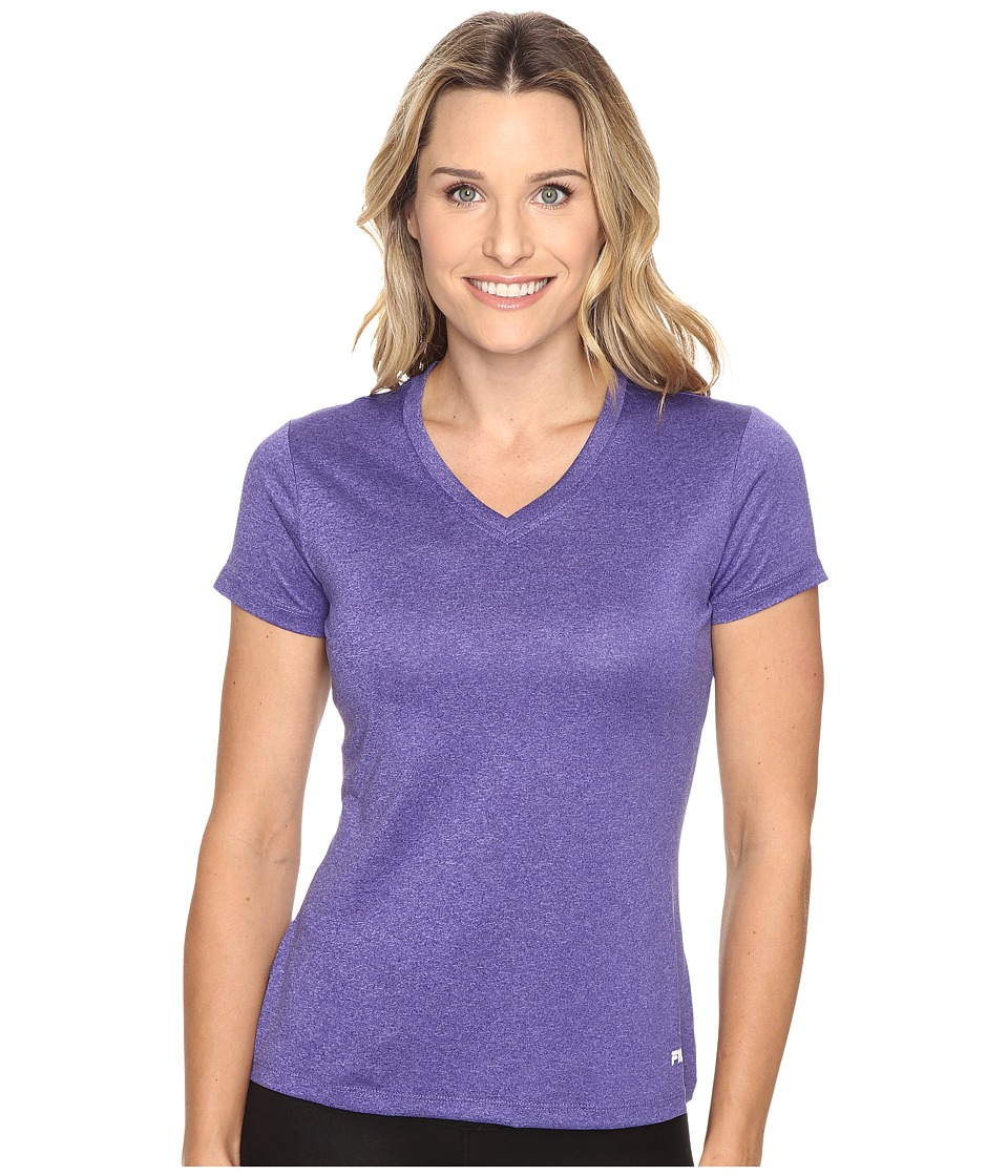 Fila - Heather V-Neck Tee (Royal Heather) Women's T Shirt