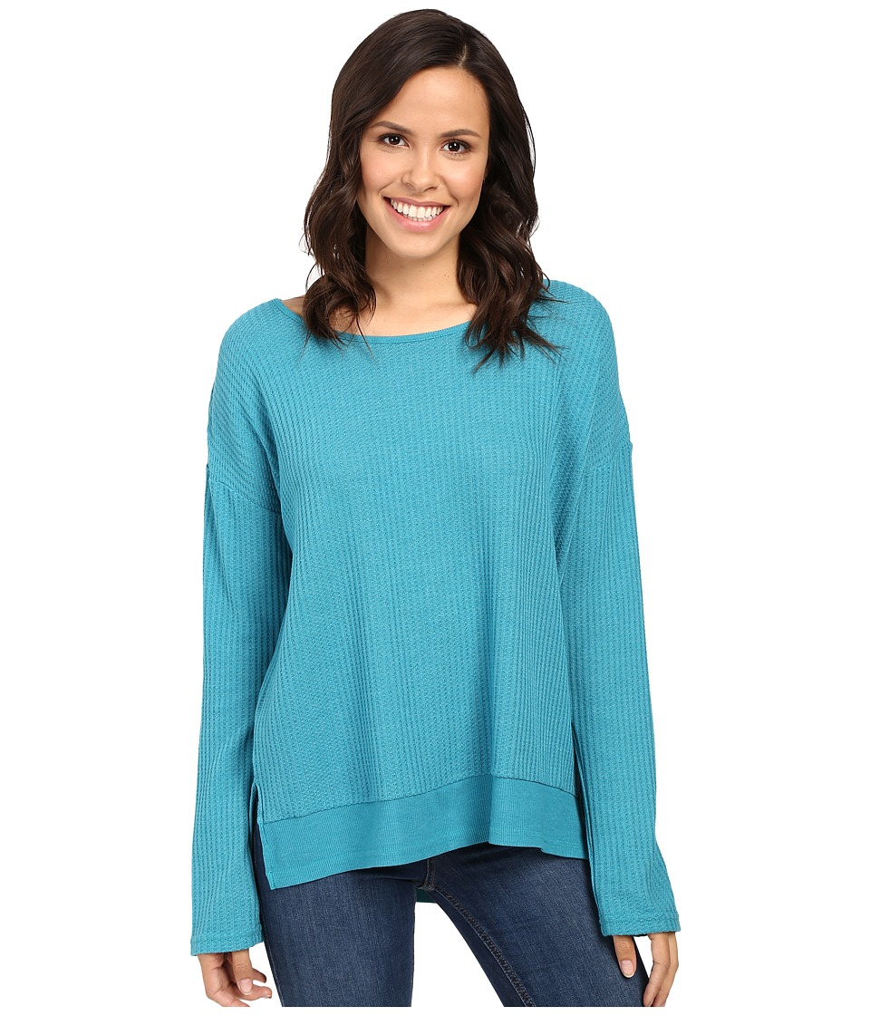 Fresh Produce - Portland Thermal Top (Teal) Women's Clothing
