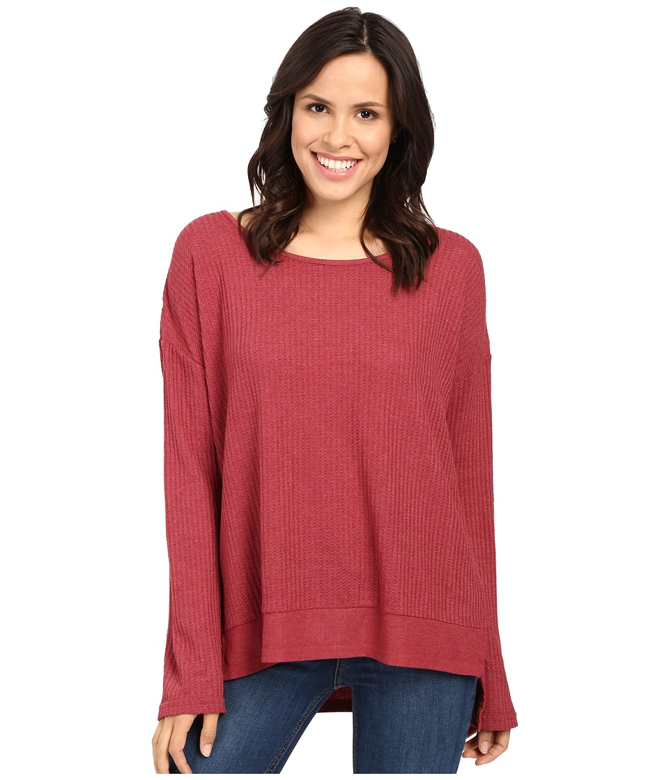 Fresh Produce - Portland Thermal Top (Burgundy Red) Women's Clothing