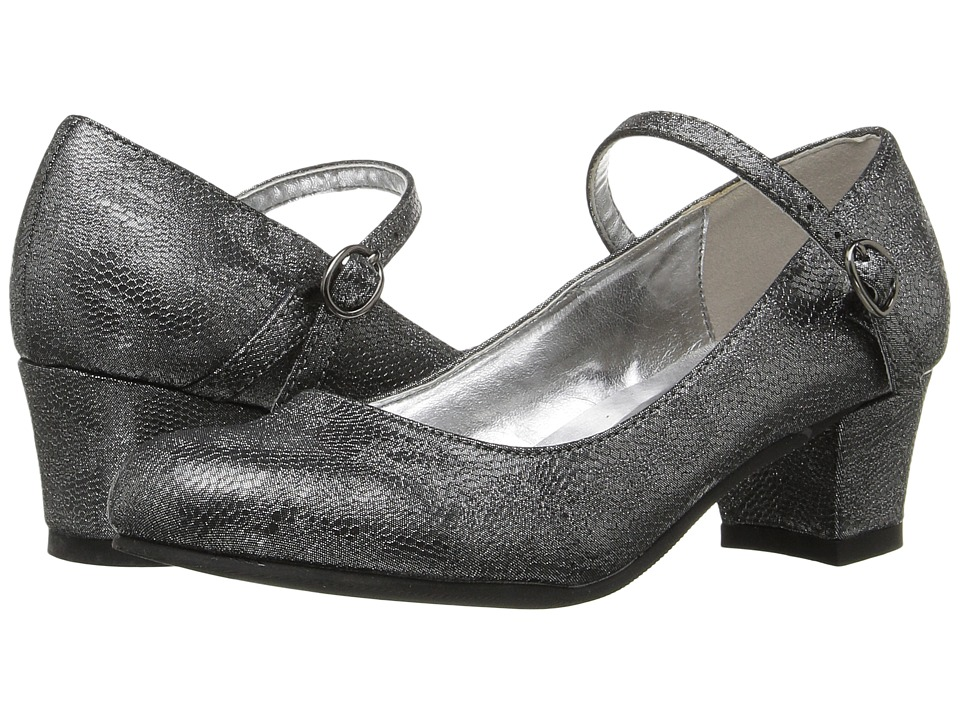 Amiana - 6-A0924 (Toddler/Little Kid/Big Kid/Adult) (Pewter Net PU) Girl's Shoes