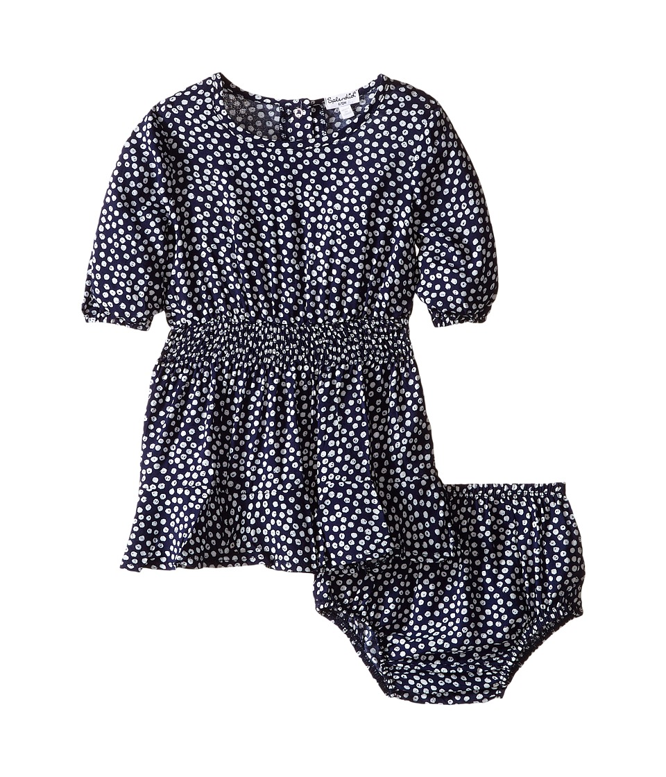 Splendid Littles - Ditsy Dot 3/4 Sleeve Dress (Infant) (Print) Girl's Dress