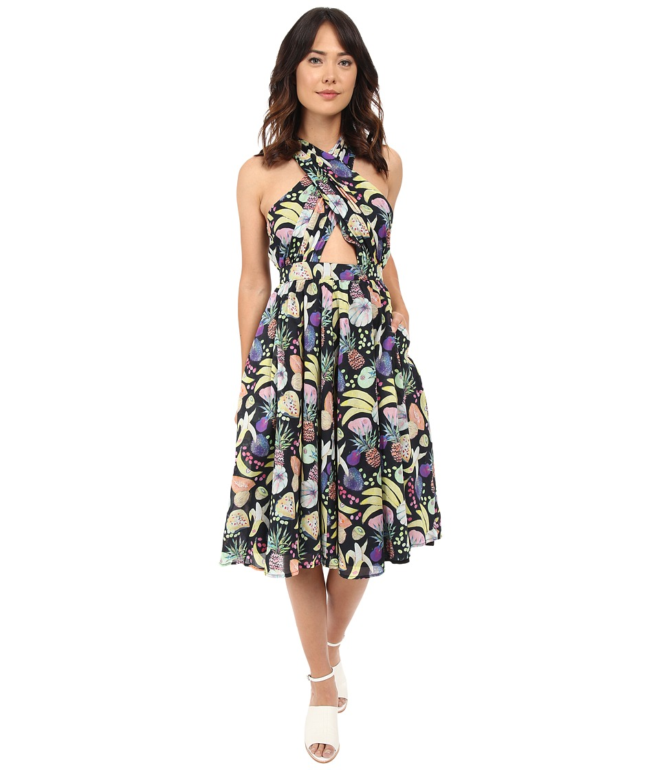 Rachel Antonoff - Samantha Wrap Halter Dress (Tutti Frutti Black) Women's Dress