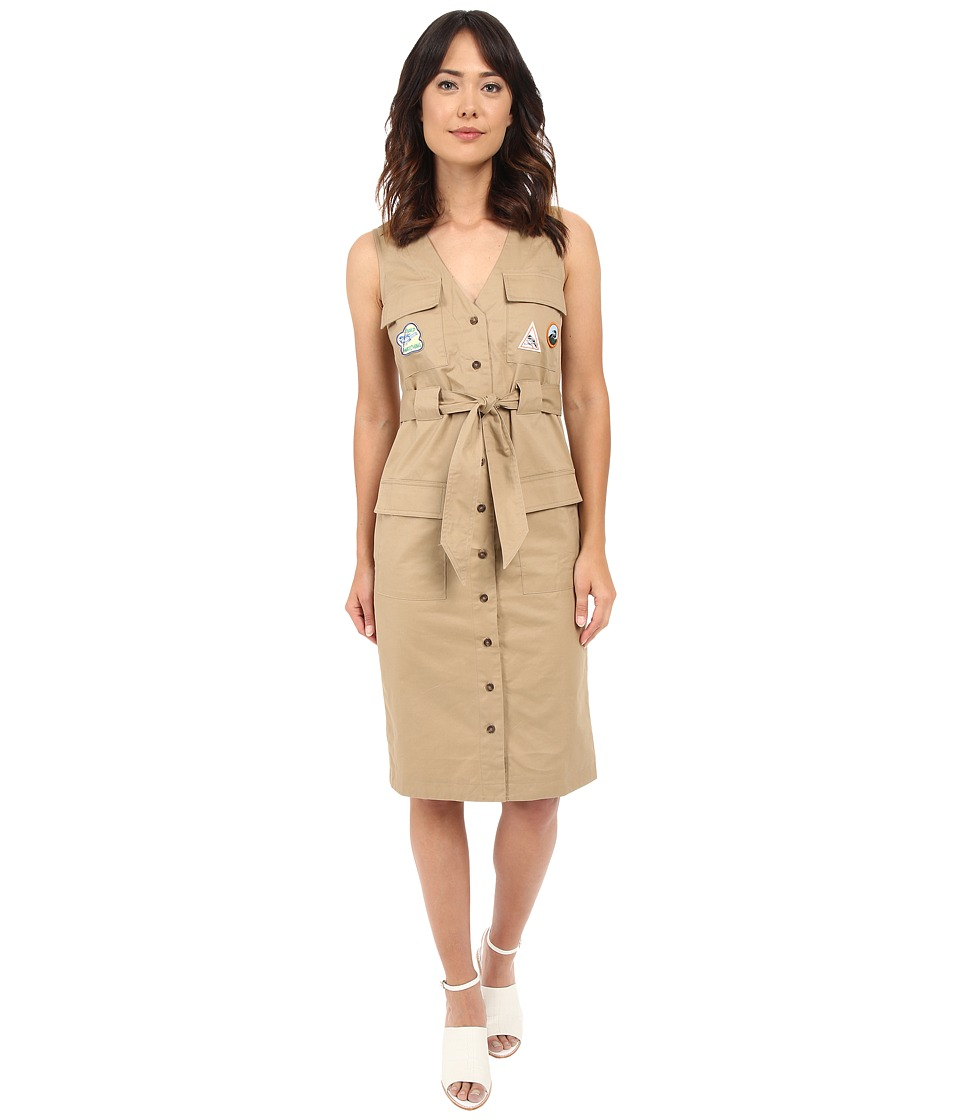 Rachel Antonoff - Hammy V-Neck Cargo Dress with Patches (Khaki) Women's Dress