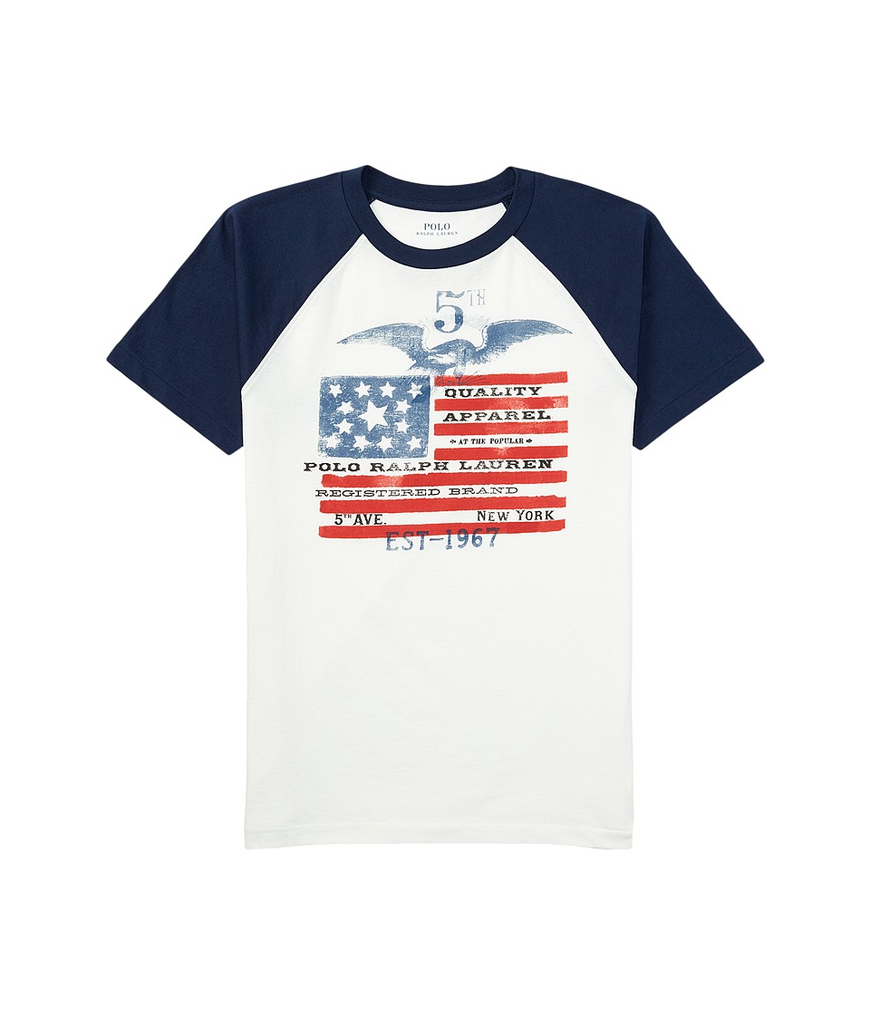 Polo Ralph Lauren Kids - Flag Baseball T-Shirt (Toddler) (Antique White) Boy's T Shirt