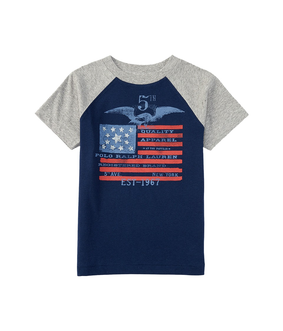 Polo Ralph Lauren Kids - Flag Baseball T-Shirt (Toddler) (Spring Navy) Boy's T Shirt