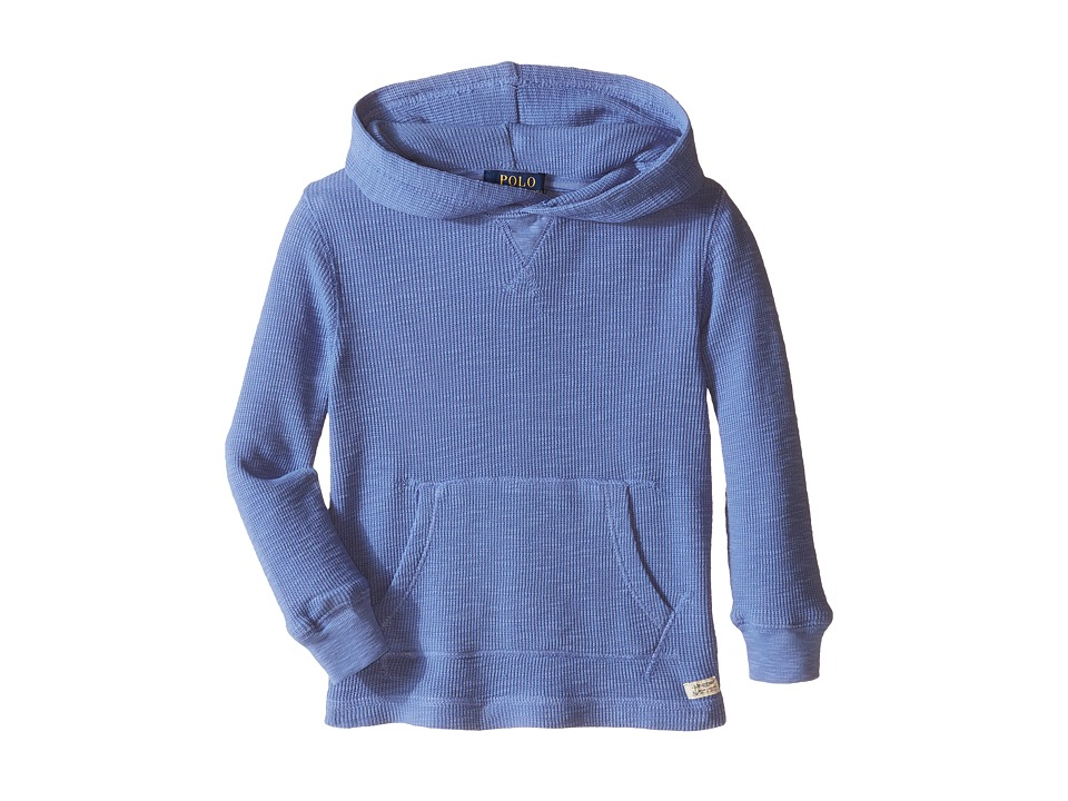 Polo Ralph Lauren Kids - Hooded Pullover (Toddler) (Blue Water) Boy's Long Sleeve Pullover