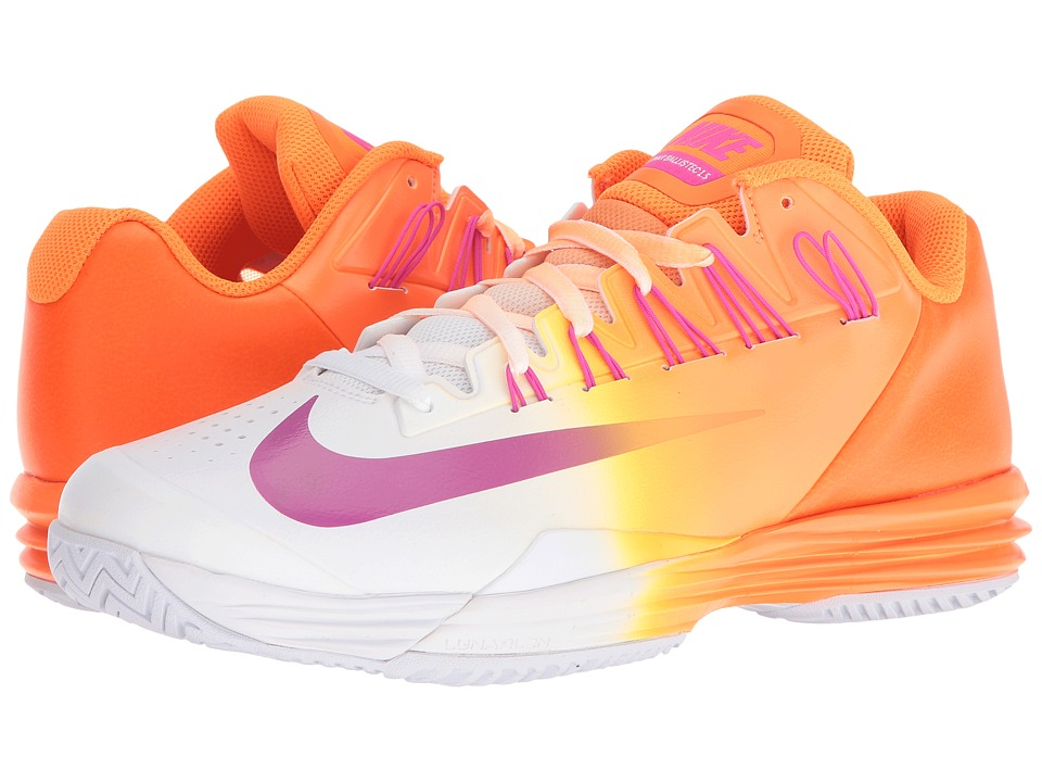 Nike - Lunar Ballistec 1.5 (Bright Citrus/Fresh Pink-White-Total Orange) Men's Tennis Shoes