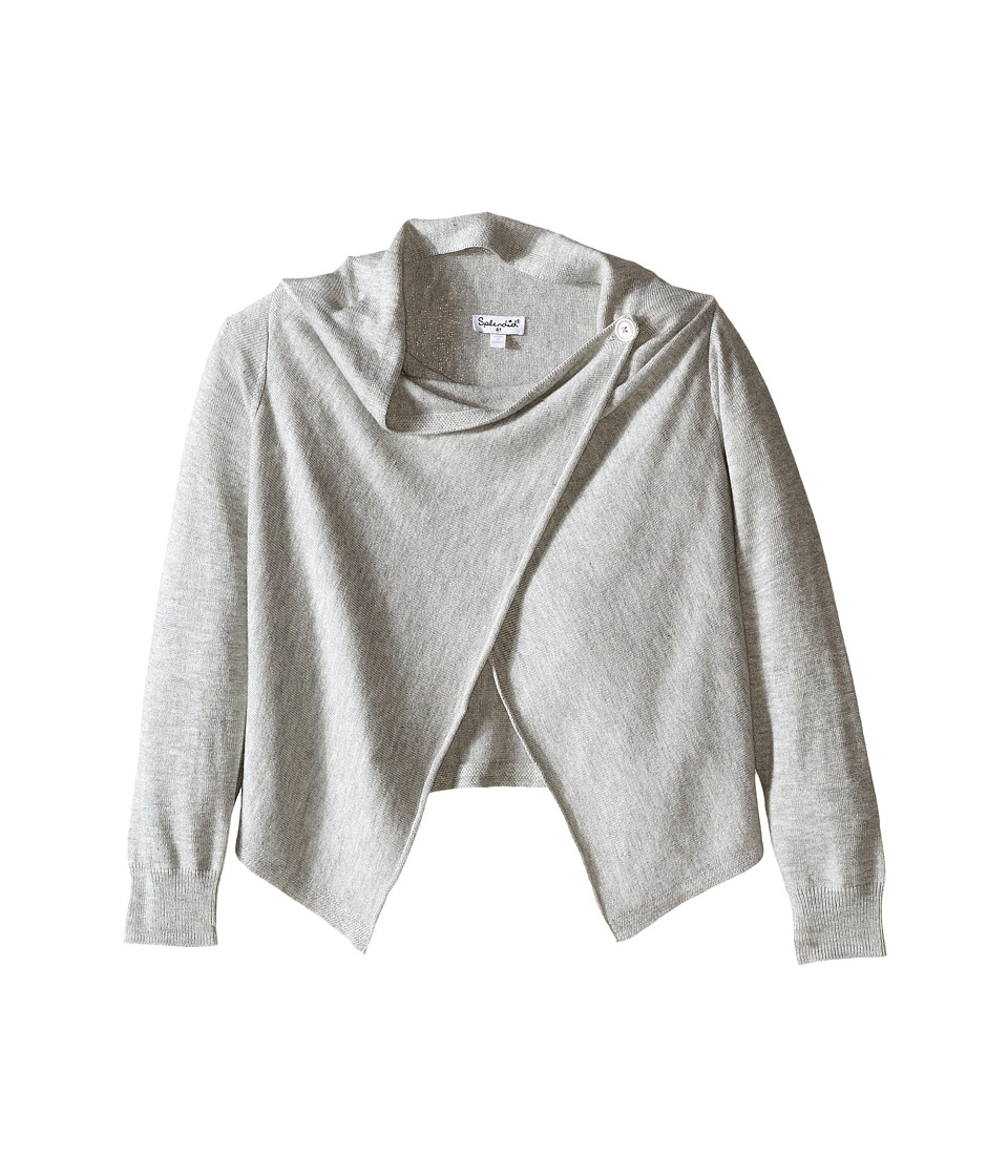 Splendid Littles - Wrap Sweater with Button (Toddler) (Grey Heather) Girl's Sweater