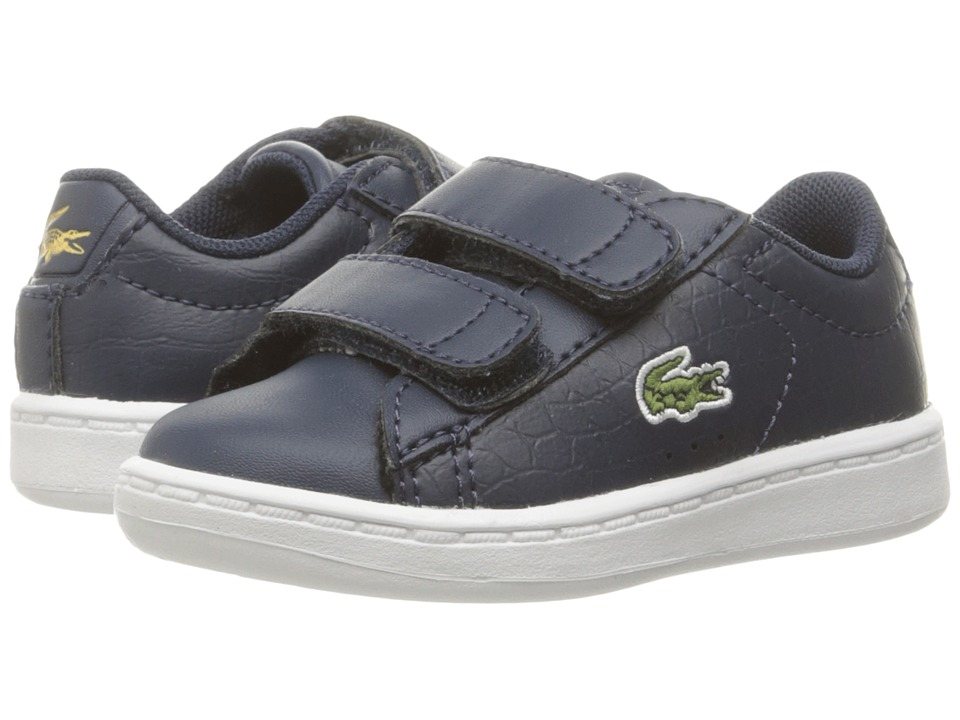 Lacoste Kids - Carnaby Evo Gsp 2 (Toddler/Little Kid) (Navy/Navy) Kid's Shoes