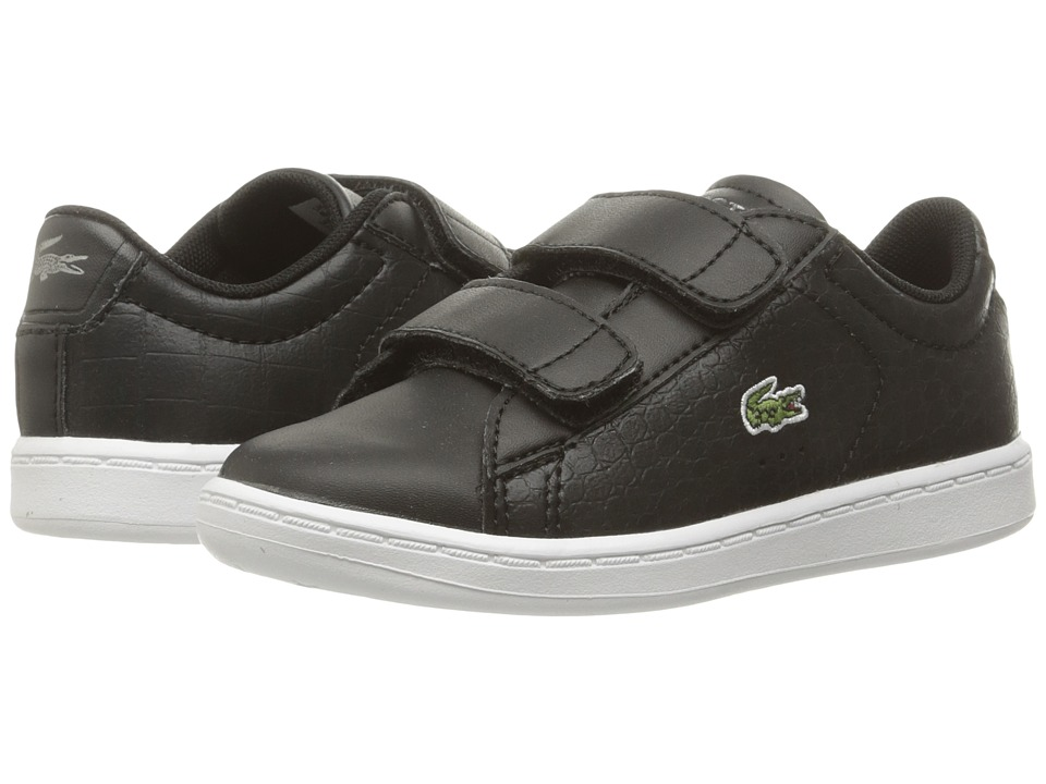 Lacoste Kids - Carnaby Evo Gsp 2 (Toddler/Little Kid) (Black/Black) Kid's Shoes