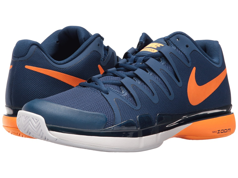 Nike - Zoom Vapor 9.5 Tour (Coastal Blue/Bright Citrus-White) Men's Tennis Shoes