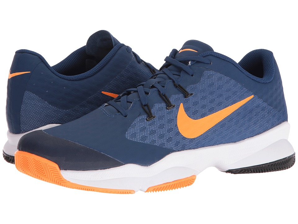 Nike - Air Zoom Ultra (Coastal Blue/White-Bright Citrus) Men's Tennis Shoes