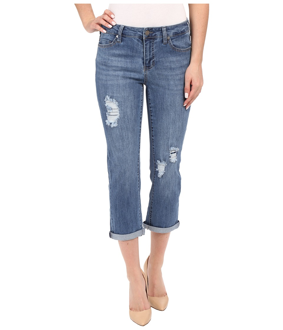 Liverpool - Michelle Capris w/ Destruction in Melbourne Light Blue (Melbourne Light Blue) Women's Jeans