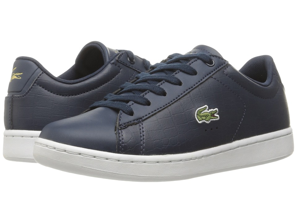 Lacoste Kids - Carnaby Evo Gsp 2 (Little Kid/Big Kid) (Navy/Navy) Kid's Shoes