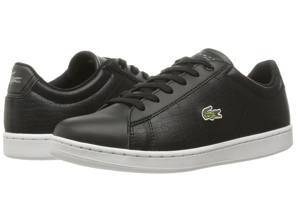 Lacoste Kids - Carnaby Evo Gsp 2 (Little Kid/Big Kid) (Black/Black) Kid's Shoes